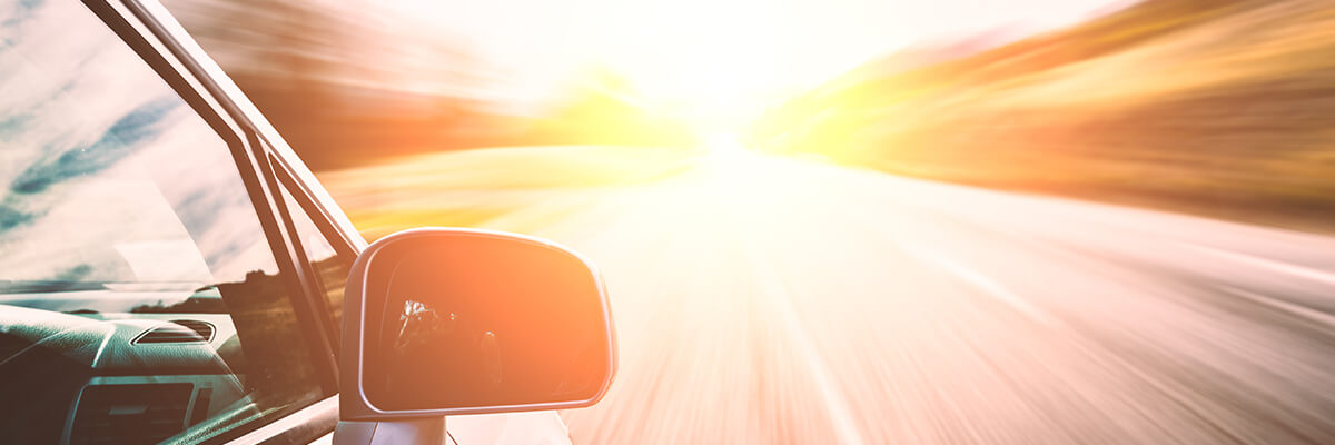 sun glare while driving